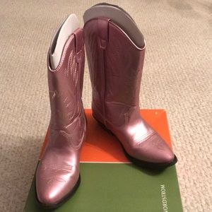 Other - Metallic Pink Cowgirl Boots